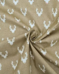 Christmas Cotton Fabric - Scandi Rudolph Biscuit