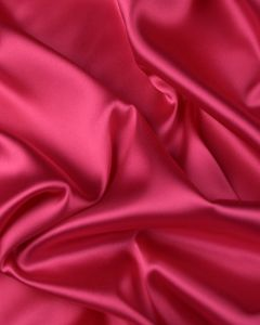 Stretch Polyester Satin Fabric - Cerise