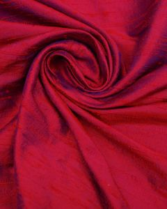 Shot Silk Dupion Fabric - Red & Royal Blue