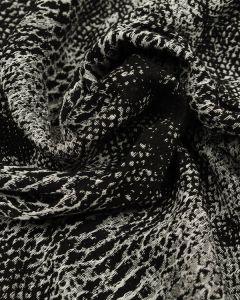 Wool Blend Fabric - Mono Snake Print