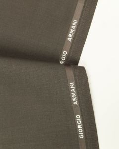 Ex Designer - Italian Wool Blend Suiting Fabric - Truffle