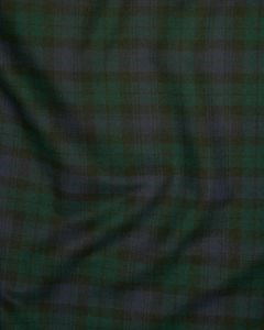 Brushed Cotton Fabric - Blackwatch Tartan
