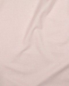 Brushed Cotton Fabric - Tiny Gingham Pink