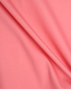 Cotton Poplin Fabric - Coral Pink