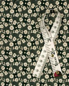 Liberty City Poplin Fabric - Millie in Black