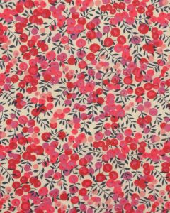 Liberty Tana Lawn Fabric - Wiltshire in Red & Pink