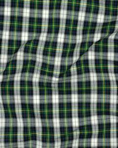 Cotton Tartan Fabric - Green & Blue