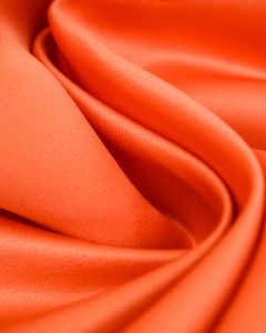 Polyester Duchesse Satin Fabric - Coral
