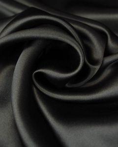 Silk Satin Fabric - Ink Black