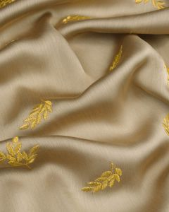 Embroidered Chiffon Fabric - Gold