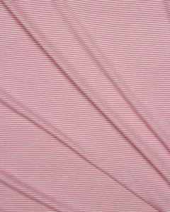 Viscose Jersey Fabric - Fine Pink Stripe