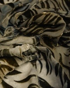 REMNANT Green Flame Silk Velvet Devore Fabric - 170cm x 137cm