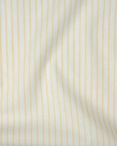 Cotton Shirting Fabric - Yellow Stripe