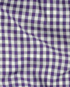 Yarn Dyed Cotton Fabric - 1cm Gingham Purple