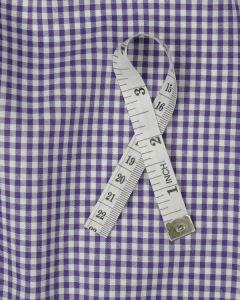 Cotton Gingham 3mm Fabric - Purple