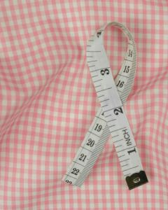 Cotton Gingham 3mm Fabric - Baby Pink