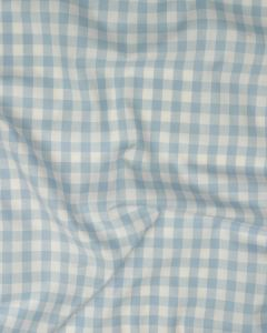 Yarn Dyed Cotton Fabric - 1cm Gingham Baby Blue