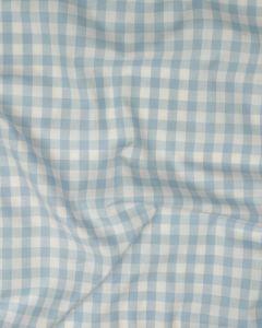 Cotton Gingham 1cm Fabric - Baby Blue