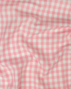 Cotton Gingham 1cm Fabric - Baby Pink
