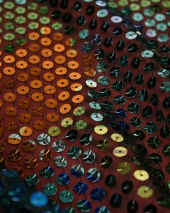 Round Sequin Fabric - Multi Coloured