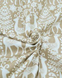 Christmas Cotton Fabric - Scandi Reindeer Biscuit