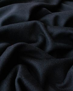 Wool & Cashmere Fabric - Dark Navy
