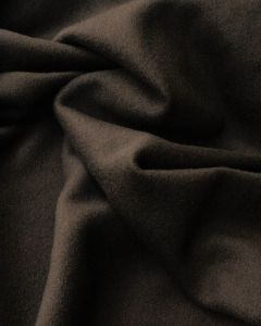 Wool & Cashmere Fabric - Chocolate Brown
