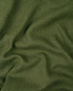 Boiled Pure Wool Jersey Fabric - Olive Green