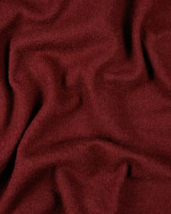 Boiled Pure Wool Jersey Fabric - Cranberry