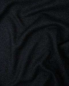 Boiled Wool Jersey Fabric - Dark Navy