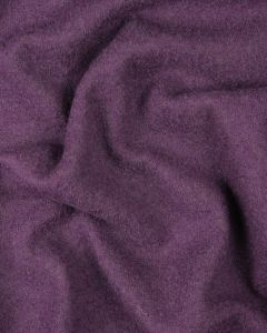 Boiled Pure Wool Jersey Fabric - Grape