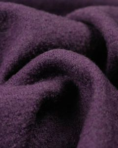 REMNANT Grape Boiled Wool Jersey Fabric - 50cm x 150cm