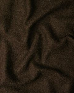 Boiled Pure Wool Jersey Fabric - Chocolate Brown