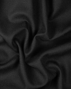 Pure Wool Crepe Fabric - Black