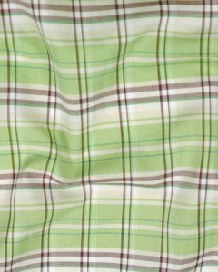 Cotton Shirting Fabric - Green Plaid