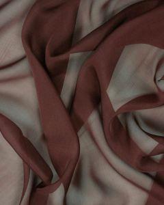 Silk Chiffon Fabric - Merlot