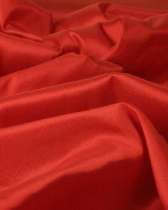 Stretch Silk Blend Habotai Fabric - Tomato Red