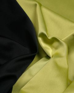 Double Duchesse Satin Fabric - Black & Acid