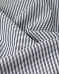 Pure Cotton Stripe Fabric - Navy