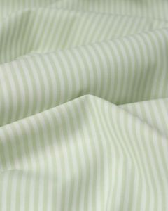 Pure Cotton Stripe Fabric - Pale Sage