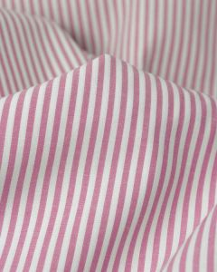 Pure Cotton Stripe Fabric - Cerise
