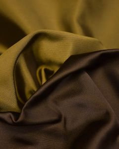 Silk Duchesse Satin Fabric - Green & Brown