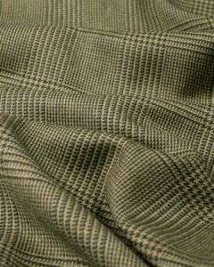 Pure Wool Suiting Fabric - Glen Plaid Brown