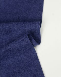 Boiled Wool Blend Jersey Fabric - Royal Blue