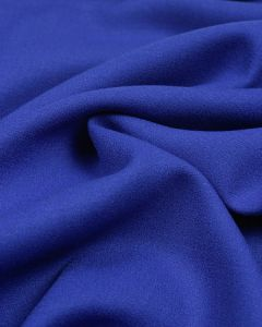 Pure Wool Crepe Fabric - Royal Blue