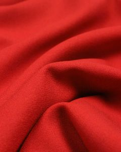 Pure Wool Crepe Fabric - Tomato Red