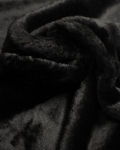 Faux Fur Fabric - Black