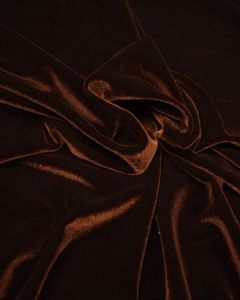 Polyester Velour Fabric - Earth Brown