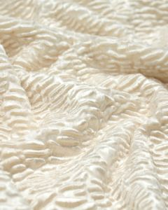 Polyester Blend Velvet Fabric - Astrakhan Cream