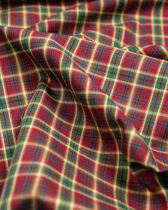 Cotton Tartan Fabric - Red & Green